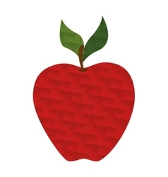 Red apple with abstract texture vector