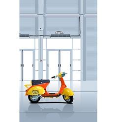 Retro scooter vector
