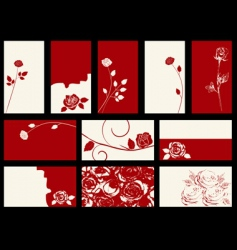 roses designs vector image vector image