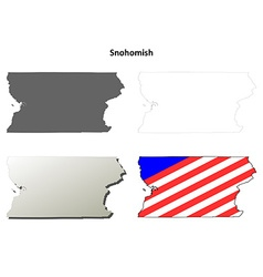 Snohomish map icon set vector