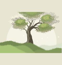 Tree scene vector