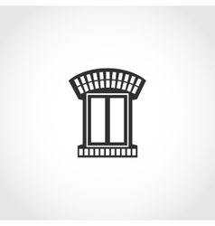 Vintage window icon vector image