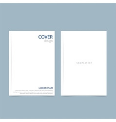 Blank catalog magazine book template with soft vector
