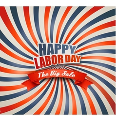 Happy labor day sale retro background vector