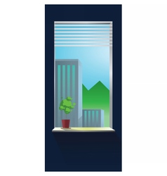 Abstract blue wall interior vector