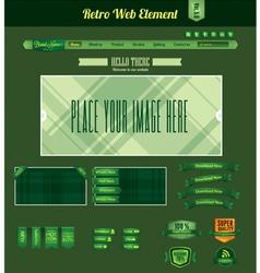 retro web element 5 vector image
