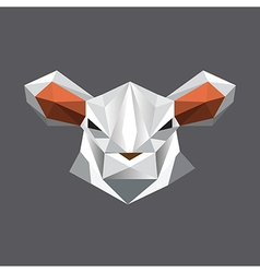 Origami sheep portrait vector