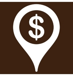 Bank location icon from business bicolor set vector