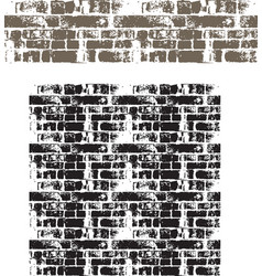 Grunge brick wall seamless vector