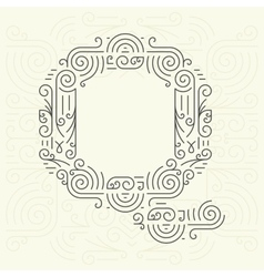 Letter q golden monogram design element vector