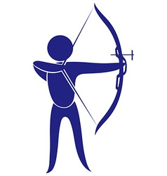 Sport icon for archery vector