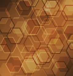 Abstract brown gradient background with hexagon vector image vector image