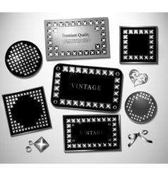 Abstract retro label and stiker with stud vector image