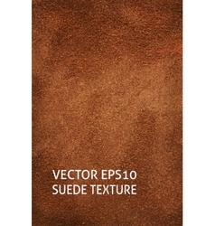 Brown suede vertical background vector image