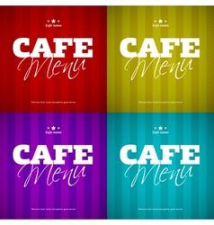 Cafe menu card design template vector