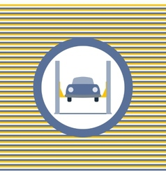 Car lift color flat icon vector