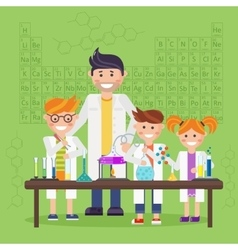 Chemistry laboratory education concept vector image