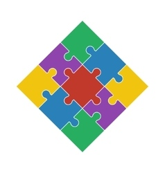 Colorful shiny puzzle vector image