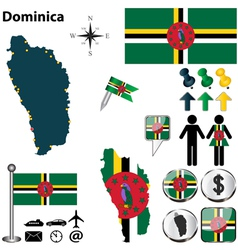 Dominica map vector image vector image