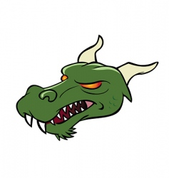dragon head vector image vector image