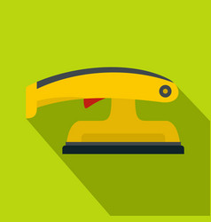 Fret saw icon flat style vector
