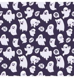 Ghost characters pattern vector image vector image