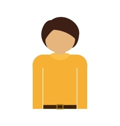 Half body man with t-shirt and belt vector