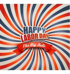 Happy labor day sale retro background vector