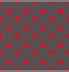 Hearts seamless red gray background pattern vector