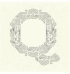 Letter Q Golden Monogram Design element vector image vector image
