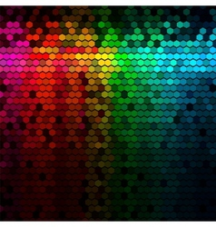 Multicolor Rainbow Abstract Lights Disco Digital vector image vector image