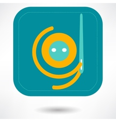 Needle and thread icon vector image