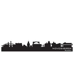 Novosibirsk Russia city skyline Detailed silhouett vector image vector image