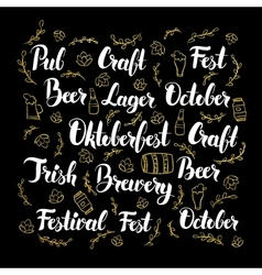 Oktoberfest calligraphy design vector