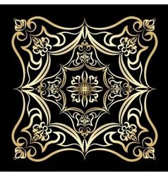 Ornament gold card with mandala vector image vector image