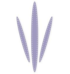 purple paw print vector image vector image