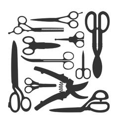 Scissors icons set vector image vector image