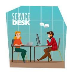 Service desk design concept vector