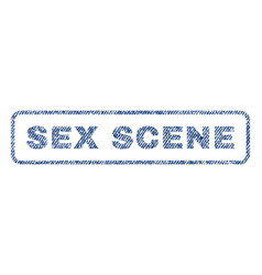 sex scene textile stamp vector image vector image