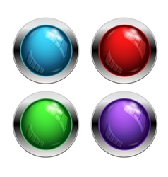 Shiny buttons vector image vector image