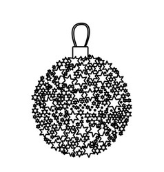 Silhouette christmas wreath of glass with star vector