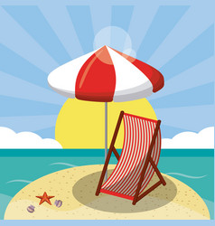 Summer beach design in the seashore with beach vector