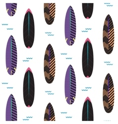 Surfboard seamless pattern Black and vector image vector image