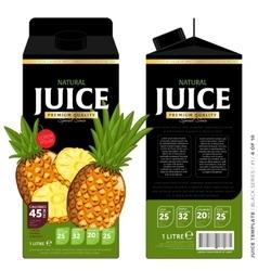 Template packaging design pineapple juice vector