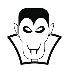 Vampire dracula icon vector