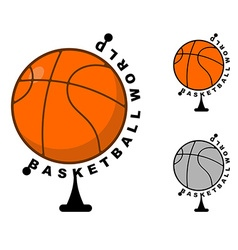 World basketball Globe ball game Sports accessory vector image vector image