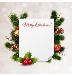Merry christmas festive background vector
