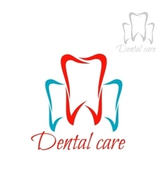 Dentistry tooth dental care dentist icon vector