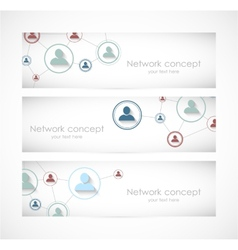 Set of social network banners vector