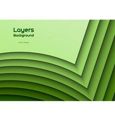 Green layeres vector